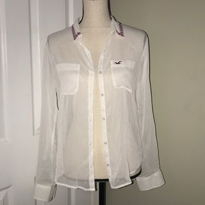 Hollister small sheer long sleeve new with tags